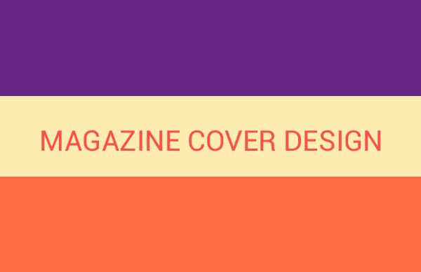 مراحل تصميم غلاف مجلة
