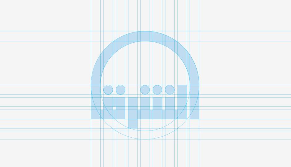 النظام الهندسي في تصميم الشعارات